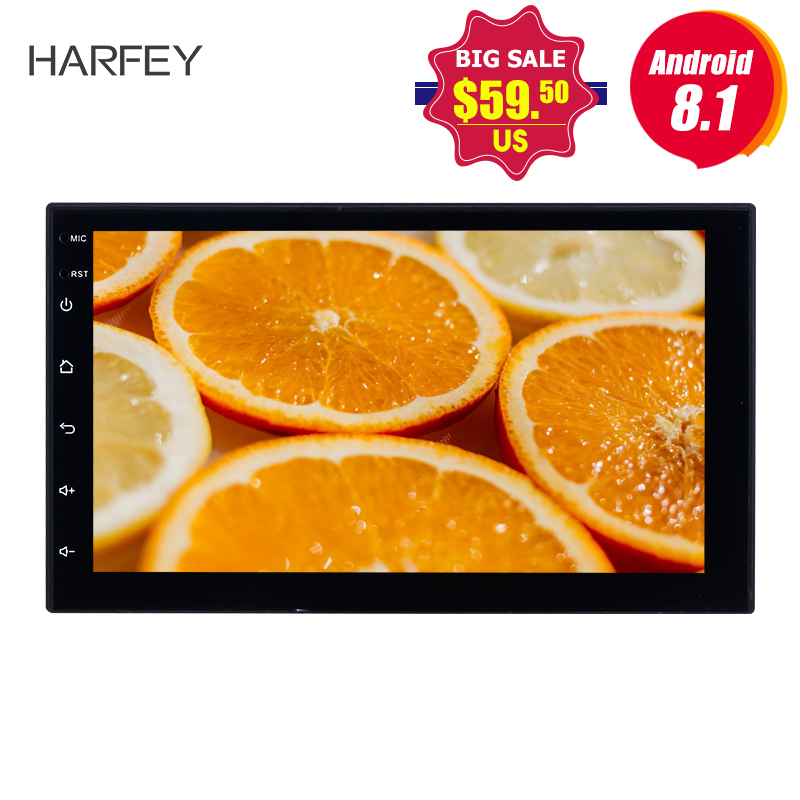 Harfey Car Multimedia player Universal Android 8 1 7 inch 2 Din Car Radio GPS For