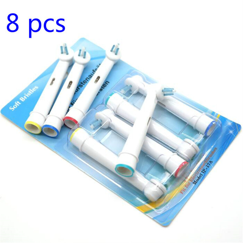 Vbatty 8pcs Replacement Electric Toothbrush Head Teeth Whitening for Oral B Interspace Power Tip IP17-4 Oral Hygiene Clean 1012 image