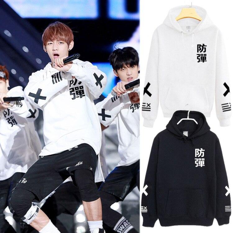 BTS Kpop Sudadera Mujer Corea Popual Bangtan Boys Otoño Invierno V mismo estilo Hip Hop sudaderas con capucha