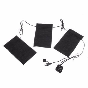 1 Set USB Electric Heated Jacket Heating Pad Outdoor Themal Warm Winter Heating Vest Pads for DIY Heated Clothing - 3 IN 1, France