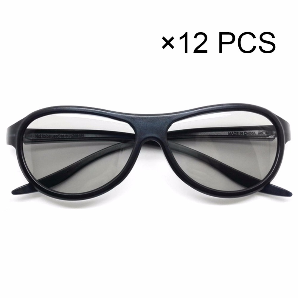 عینک جایگزین 12pcs / lot AG-F310 3D Polarized عینک غیرفعال برای LG TCL Samsung SONY Konka real TV 3D Cinema TV