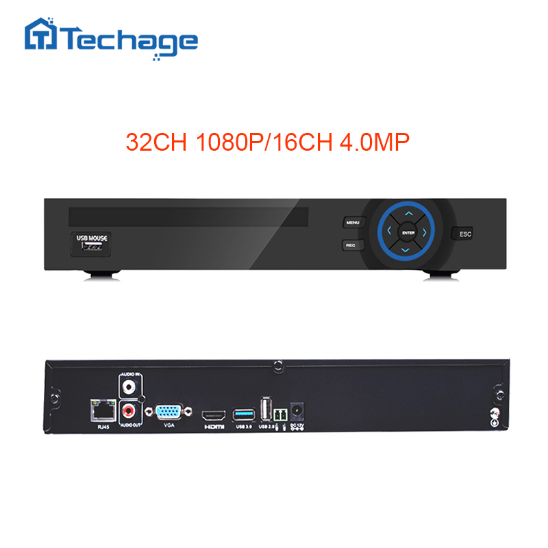 Techage ONVIF HD 32CH 1080P CCTV NVR IP Camera Security System Surveillance Video Recorder Motion Detect FTP 3G Wifi 2SATA Port new waterproof ip camera 720p cctv security dome camera video capture surveillance hd onvif cctv infrared ir camera outdoor