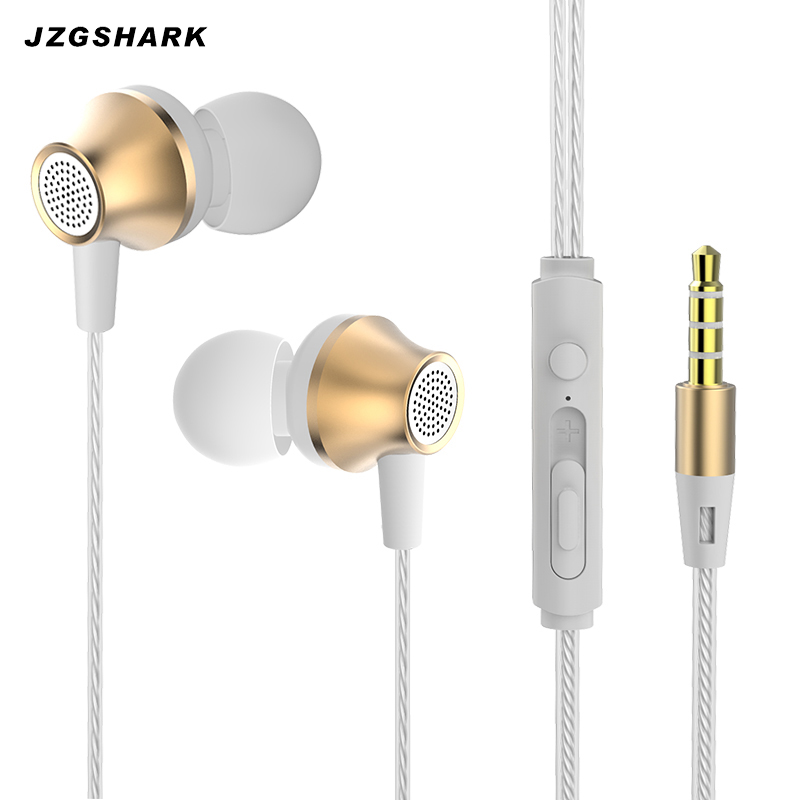 Sale Metal In Ear Phone Music Audifonos Earphone 3.5mm Wired Portable Xiomi Mi Fone De Ouvido Pc Earphones With Microphone 2017
