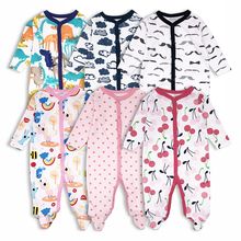 3Pcs/Lot Baby Rompers Long Sleeve Baby boys girls jumpsuit Cotton overalls Comfortable Newborn clothes Kid clothing kids clothes