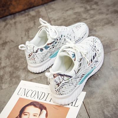 Casual Camouflage Blanc Nouveau 3 Sauvages Respirant D'été Épaisses 2 Femmes De Chaussures Maille Sport 4 1 vBqIxT