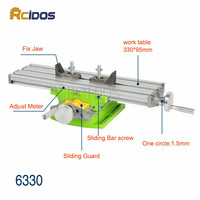 BG 6330 Mini Compound Bench Woodworking Benches RCIDOS Table Sliding Cross Table Drill Machine Work Bench