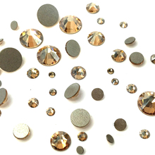 All Size Non Hotfix Rhinestones 1 Bag Crystal Golden Shadow Color Flatback Glass Strass Nails Decorations For Nail Art Designs