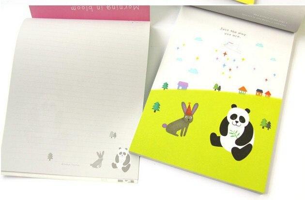 Korea ANI cute panda animal letter set stationery esthetic color page girl  letter paper 63 sheets/set / free shipping  слив для унитаза удлинительный ani к828