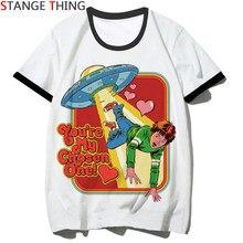 T-shirt manches courtes unisexe, humoristique ET humoristique, avec impression de dessin animé catan Alien, Hip Hop, pour hommes ET femmes