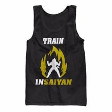 8176bf5a Train Insaiyan Flames Workout Men's Tank Top Dragon Ball Z Saiyan Goku New  Design Printed Fashion Sleeveless Shirts Men Vest