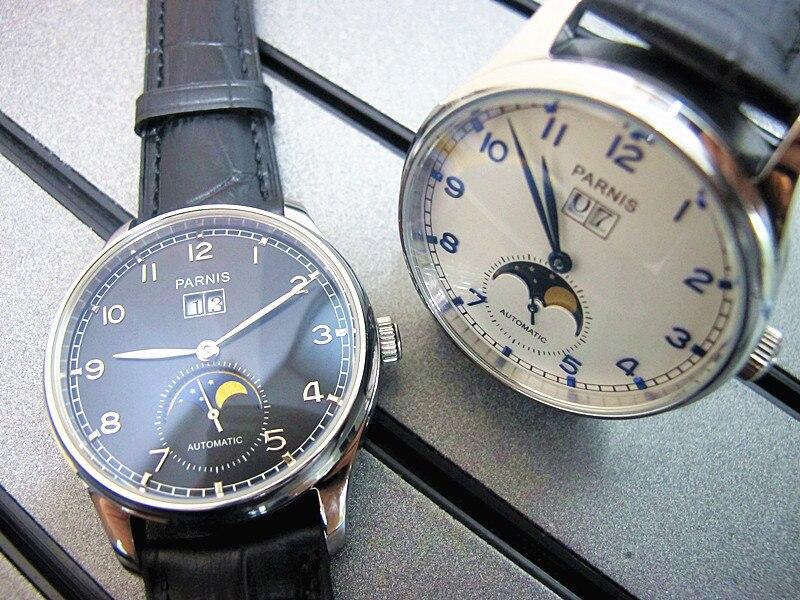 Fashion 43mm Parnis Latest Automatic Movement Sapphire glass Watch