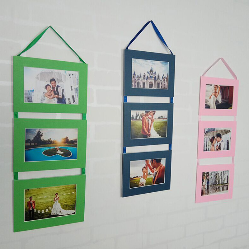 HAOTUO Cardboard Wall Hanging Pictures Frame for 6 inch Pictures 3 ...