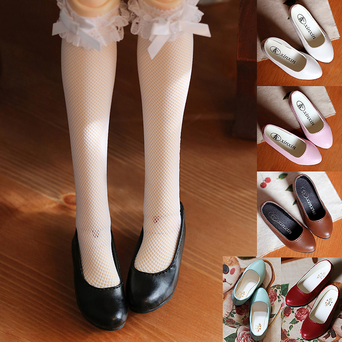 D01-P311 Children Handmade Toy 1/4 Doll Accessories BJD/SD Doll Multi-color Shallow Mouth Shoes 1pair