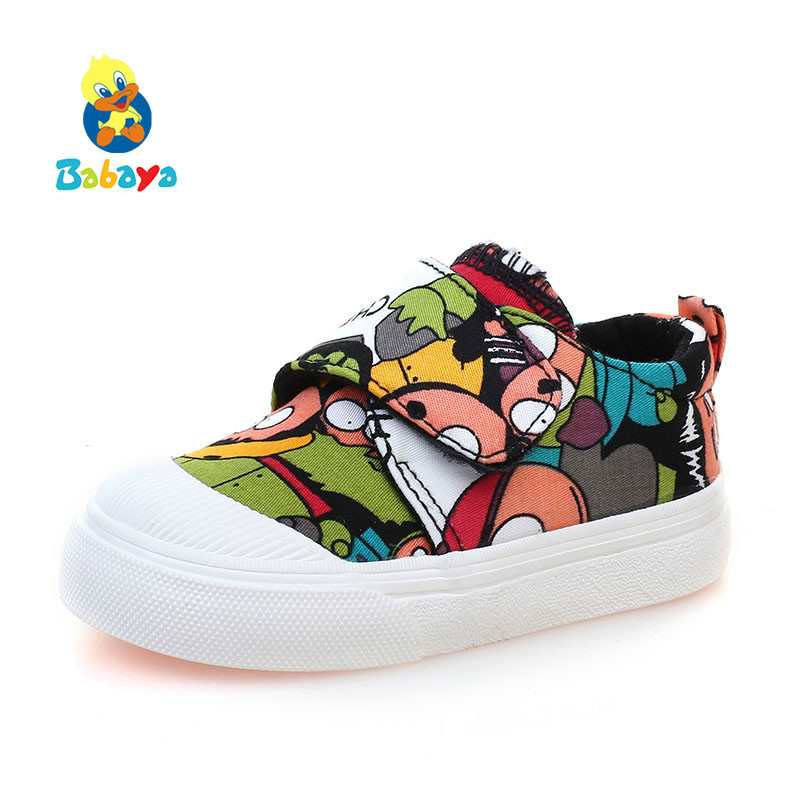 Canvas Shoes Girls Soft-Bottom Toddler Boy Cartoon 1-3-Year-Old Comfortable Kid