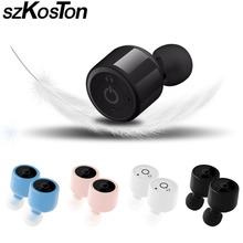 Promotion Mini Bluetooth Earphones Wireless Invisible Twins Earbuds Music Bluetooth Headset Handsfree With Microphone for xiaomi/huawei