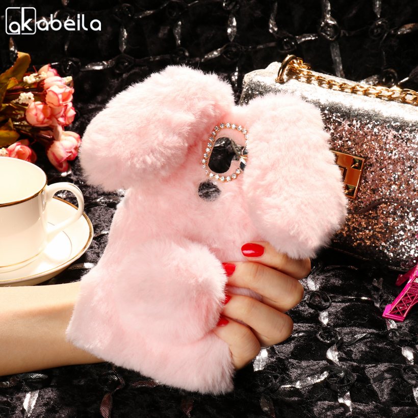 AKABEILA Cover Case Soft Rabbit Fluff For Letv Cool 1 Case Silicon For Letv LeEco cool 1 Dual Leeco Coolpad Cool1 5.5 inch Case