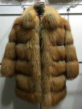 Red fox2016 new fashion natural fox fur coat Jacket overcoat genuine fur vest tnaural fur Perforated fur
