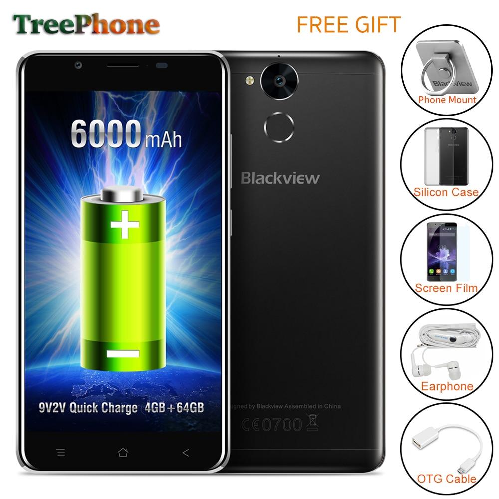 bilder für Blackview p2 smartphone 6000 mah 4 gb ram 64 gb rom android 6.0 Handy MT6750T Octa-core 5,5 zoll FHD 13MP + 8MP Mobil telefon