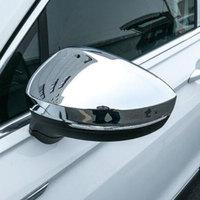 ABS Chrome for Volkswagen VW Tiguan MK2 2016 2017 2018 Rearview Mirror Cover Rear View Mirror Trim Sticker Accessories