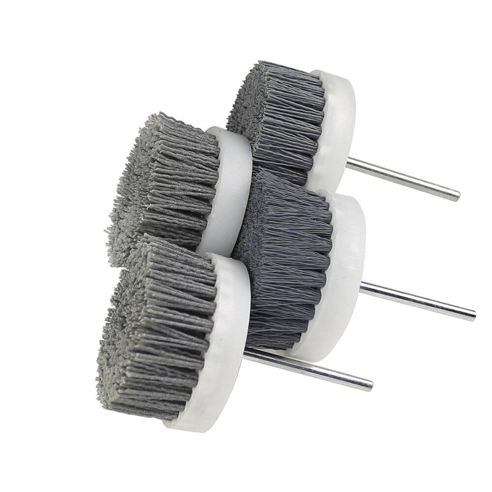 Drill Wood Polishing Wheel 80*30*6mm Nylon Abrasives Wire Brush