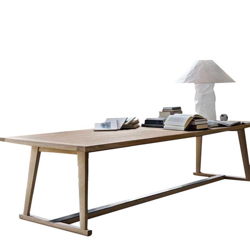 Конференц-стол офисная мебель для дома твердый деревянный офисный стол обеденный стол функциональный стол минималистичный 200*80*75 см