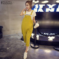 ZANZEA 2016 Autumn Rompers Womens Jumpsuit Retro Strapless Pockets Buttons Pants Casual Solid Playsuits Oversized Overalls