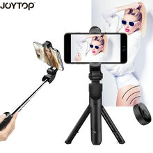 Купить с кэшбэком JOYTOP 3 in 1 Monopod Bluetooth Selfie Stick Foldable Tripod Selfie Stick With Wireless Shutter For iPhone for Andorid huawei