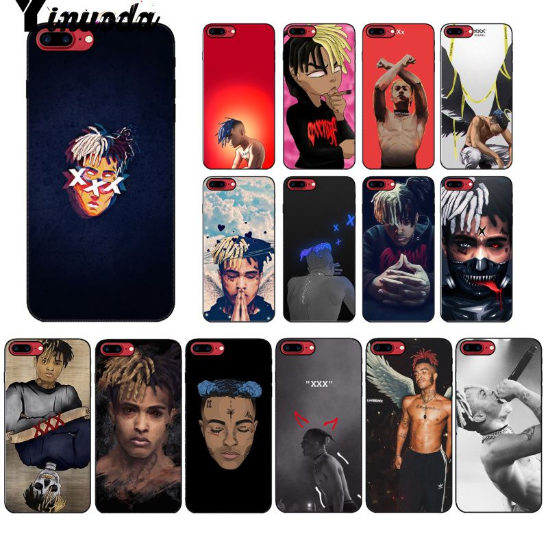 Yinuoda Rapper singer <font><b>XXXTentacion</b></font> Music Pattern Soft Cell Phone <font><b>Case</b></font> for <font><b>iPhone</b></font> 8 <font><b>7</b></font> 6 6S Plus 5 5S SE XR X XS MAX Coque Shell image