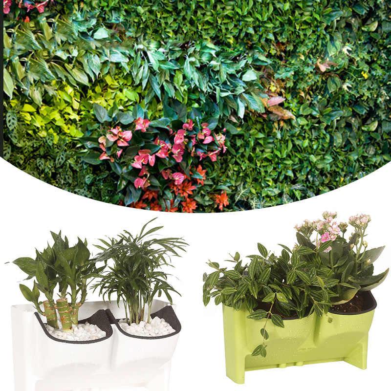 Self Watering Plant Pot 2 Pocket Indoor Outdoor Balcony Herb
