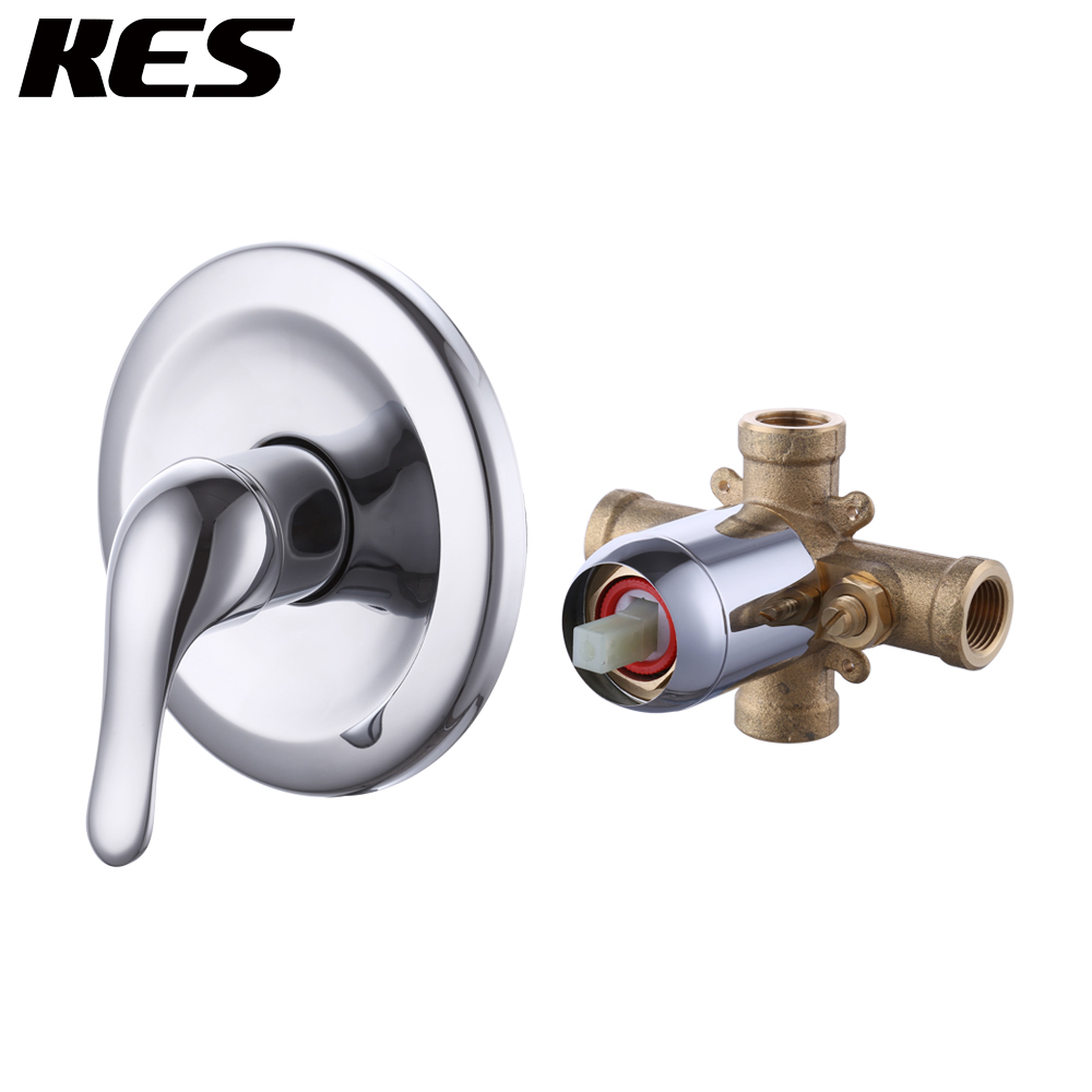 KES Pressue Balance Valve ANTI-SCALD Single Handle Brass Shower Mixing Rough Valve with Trim, LB6721/-2/-7KES Pressue Balance Valve ANTI-SCALD Single Handle Brass Shower Mixing Rough Valve with Trim, LB6721/-2/-7