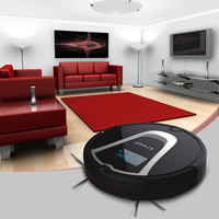 Eworld Mop Robot Vacuum Cleaner For Home ILife M884 Black Lid HEPA Filter Sensor Remote Control
