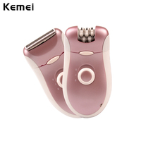 2 In 1 Rechargeable Electric Women Epilator Shaver Hair Remover For Armpit Bikini Legs Underarm Double