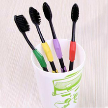 2017 28pcs Double Ultra Soft Toothbrush Bamboo Charcoal Fiber Nano Brush Oral Care Nano antibacterial Toothbrush