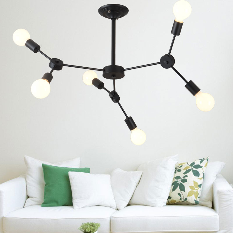 lamps After the modern lamps of Scandinavian minimalist American led iron lamp room restaurant creative personality FG297 the postmodern chandelier of the scandinavia minimalist american led lamp house creative personality chandelier fg297