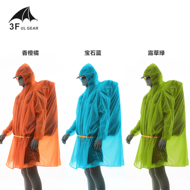3F UL Gear 3 in 1 Poncho Tarp Raincoat Groundsheet  Shelter 5