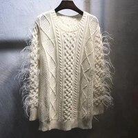 Для женщин свитера и пуловеры 2018 осень Свитер с длинными рукавами Для женщин Повседневное свитер с круглым вырезом