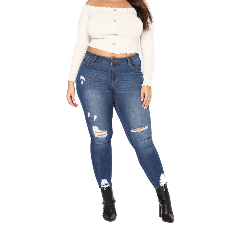 b7003bead1 2019 LASPERAL 2018 New Summer Female High Waist Skinny Jeans Pencil ...