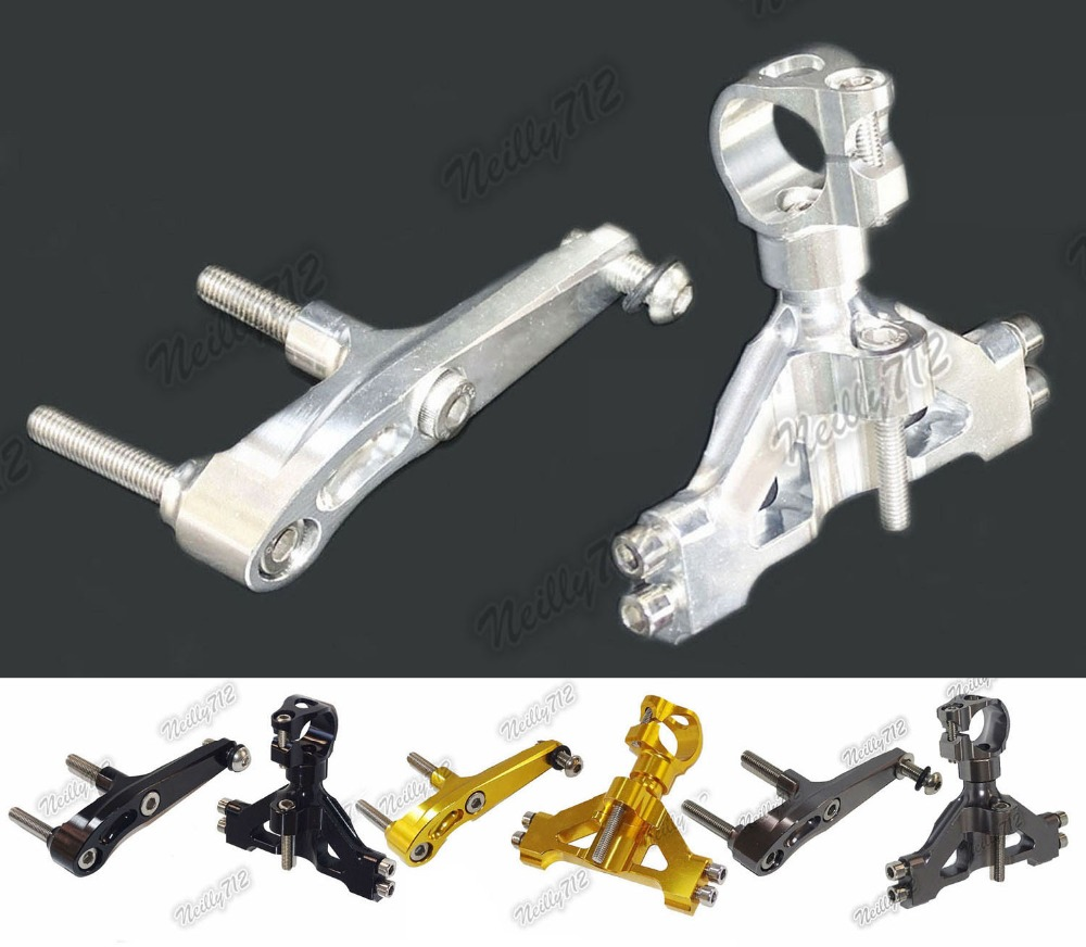 waase CNC Aluminium Steering Stabilizer Damper Mounting Bracket For KAWASAKI Ninja ZX-14R ZX14R 2012 2013 2014 2015 2016 for ktm 200 duke 2013 2014 390 duke 2014 2015 2016 motorcycle accessories steering damper stabilizer with mounting bracket kit