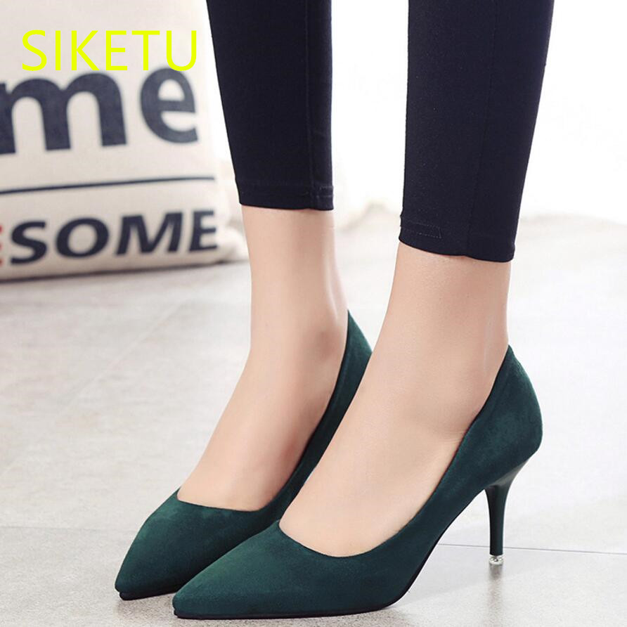 SIKETU 2017 Free shipping Spring and autumn sex Women shoes High heels shoes Wedding shoes fashion pumps g456 ol Career sandals siketu 2017 free shipping spring and autumn women shoes fashion high heels shoes wedding shoes sex was thin pumps g230