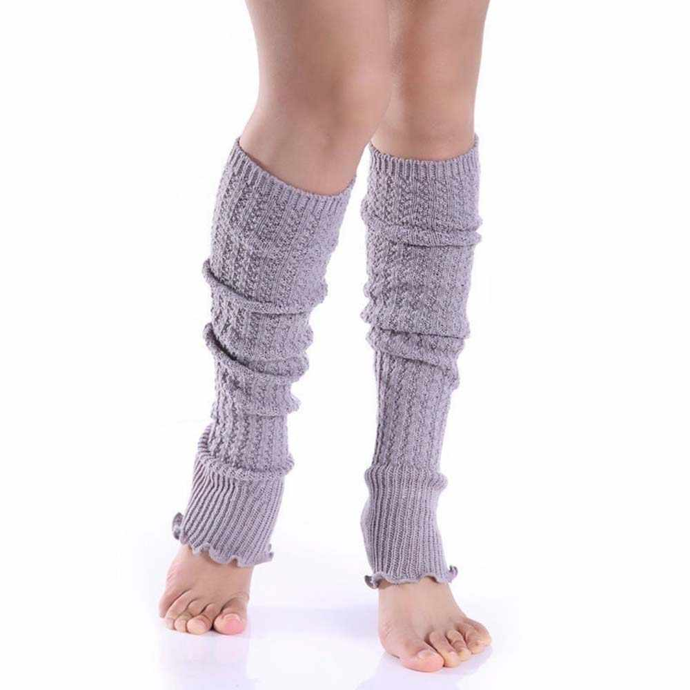High Quality Ladies Women Winter Leg Warmers Girl Gaiters Knit Warm Boot Cuffs Over Knee Leggings