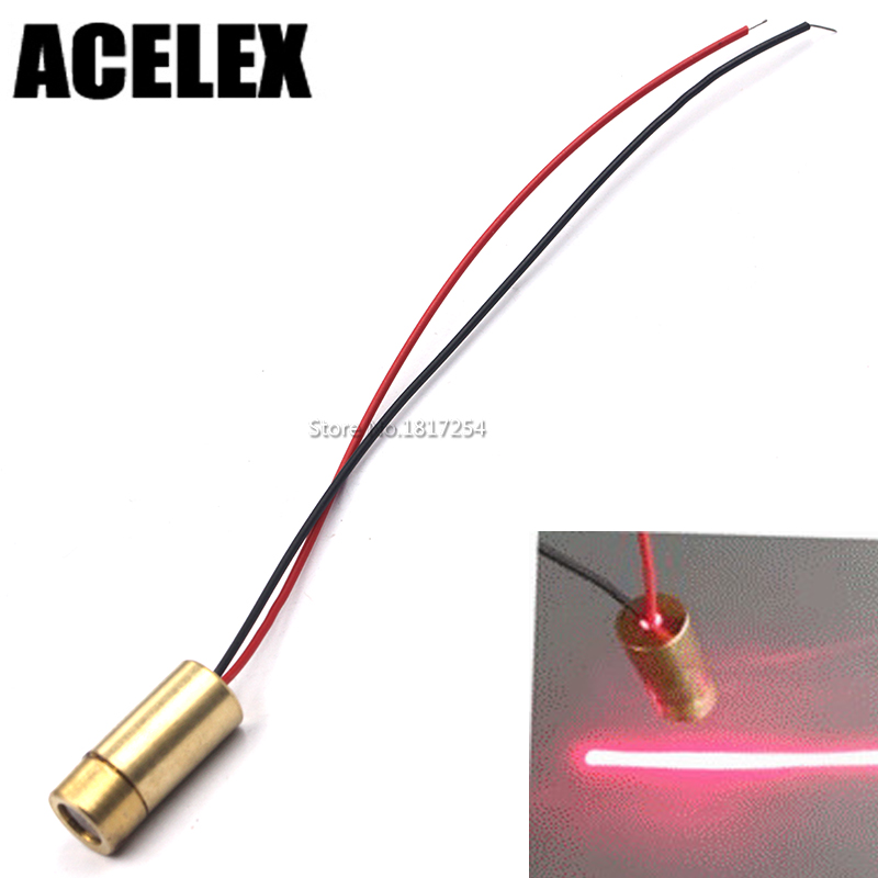 650nm 50mW Red Laser Line head laser diode semiconductor laser tube laser tube