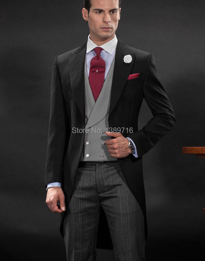 Style Smokings D'honneur veste Gilet Cravate 2016 Pantalon Un Marié Costumes Bouton De Matin Mariage Garçons Pointe Hommes Epoux Revers Rx1q8xA