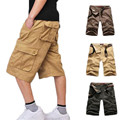2016 New Cargo Shorts Men  Shorts Military Black Casual Solid Hip Hop Short ZMF789652