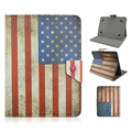 Универсальный PU Кожаный Чехол Американский флаг Шаблон Дизайна Обложка с Подставкой для 7 дюймов Таблетки Android Tablet PC