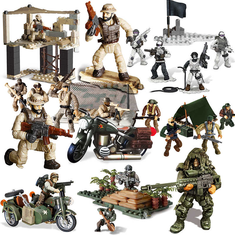 Military Call Wwii World War 2 Kids Action Figure Of Soldiers Dutying Model Building Blocks Army Weapons Gun Construction Toys Aliexpress