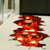 [SHIJUEHEZI] Magma 3D Wall Sticker Home Decor Living Room Bedroom Floor Decoration Removable Vinyl Material Decorative Art 2