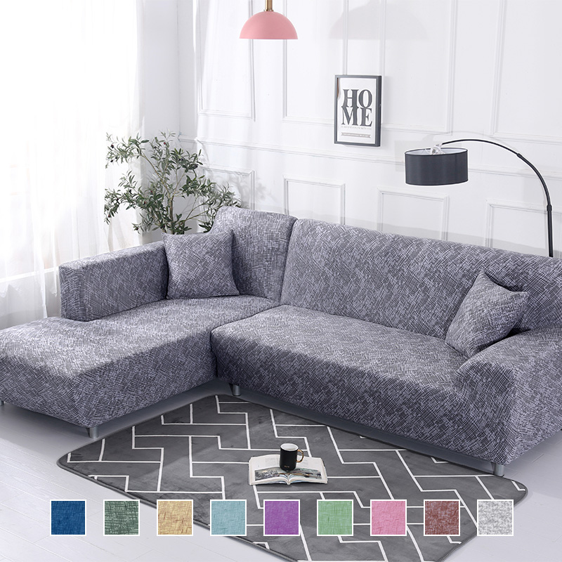 New 2 Pieces Covers For L Shaped Sofa Coner Sofa Sectional