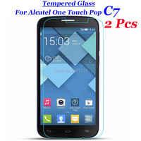 2 unids/lote para Alcatel Pop C7 de vidrio templado 9 H 2.5D Premium de película Protector de pantalla para Alcatel One Touch Pop c7 OT 7040D 5,0