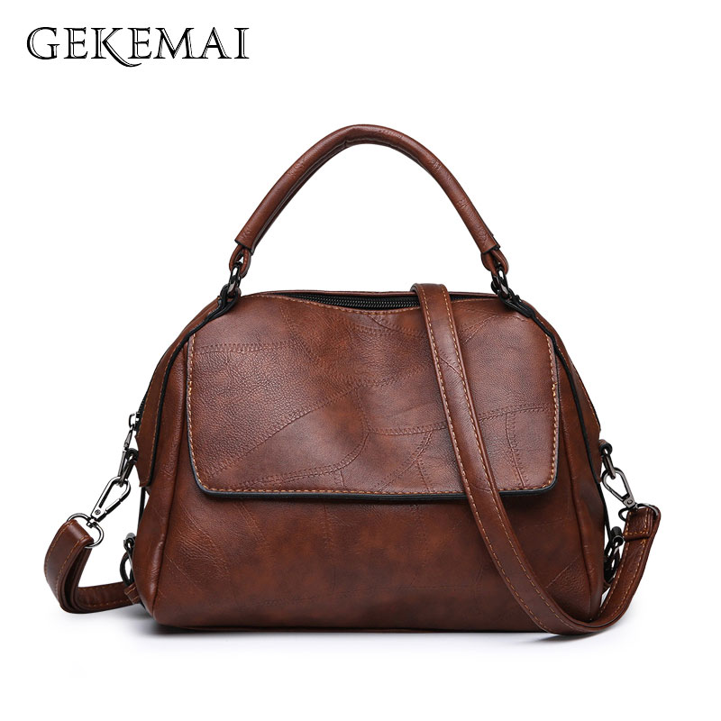 Brand Luxury Ladies Handbags Vintage Leather Female Crossbody Bags For Women Sac A Main Designer Tote Bag Casual Shoulder Bags