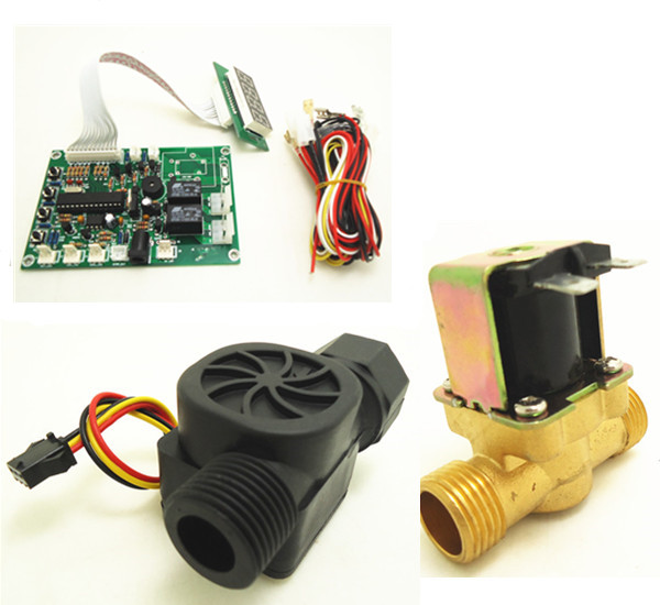 1 kit of volume control for water vending machine with 1/2 solenoid valve, flow sensor bride of the water god volume 14